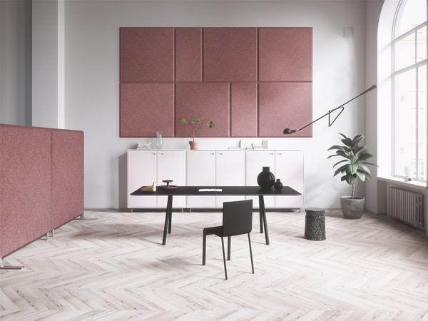 Isolamento acústico de paredes interiores em homeoffice