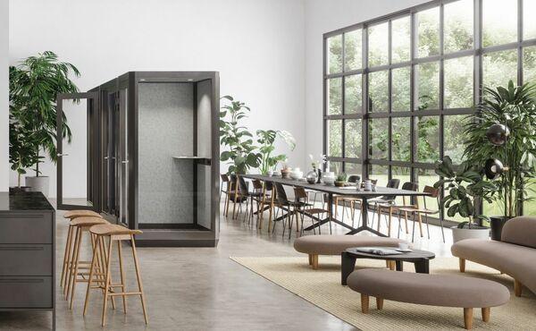 Espaço lounge com salas insonorizadas da Abstracta