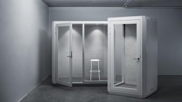 Conceito de sala com isolamento acústico