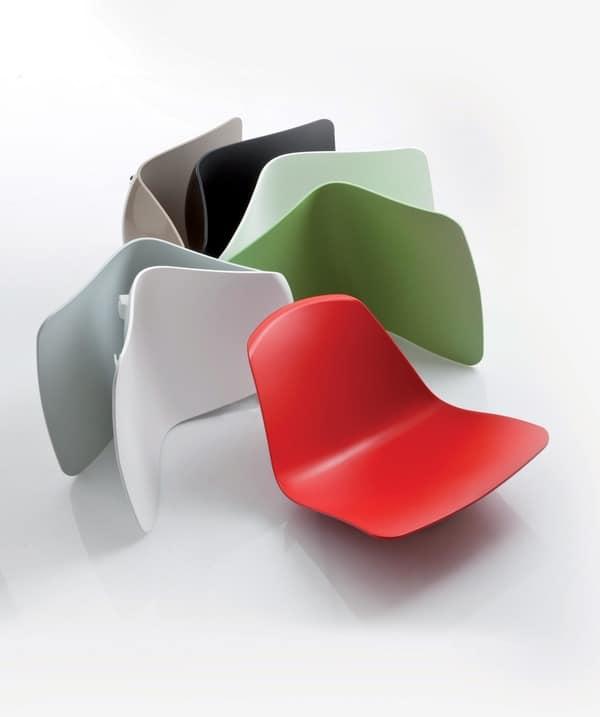 Assentos dos bancos empilháveis Epoca, da Luxy