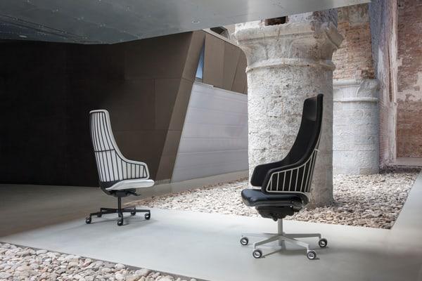 Italia é uma gama de cadeiras de design para escritório Luxy