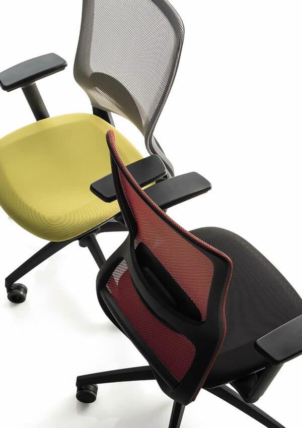 Duas cadeiras de escritório ergonómicas Luxy