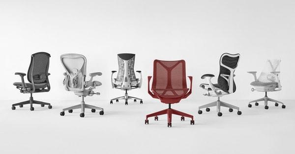 Vários modelos de cadeiras herman miller