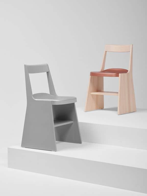 Cadeiras de design italiano feitas em madeira da marca Mattiazzi