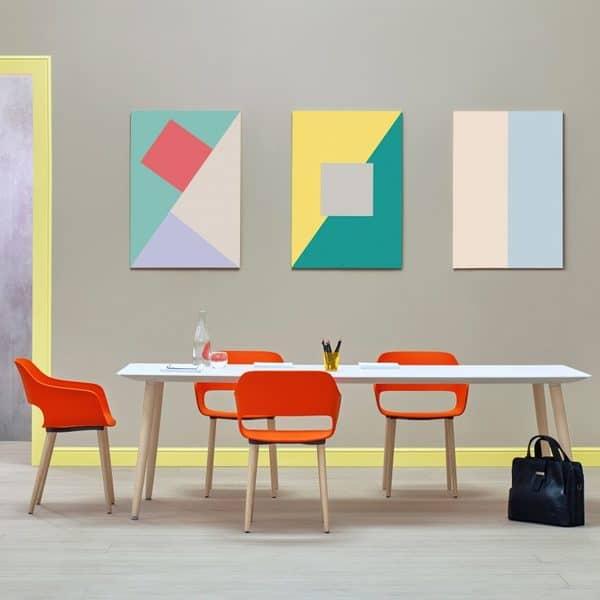 As cadeiras Pedrali são produzidas com a maior atenção ao detalhe
