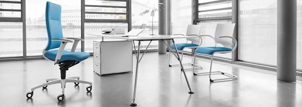 Estação de trabalho com cadeiras de escritório Dauphin