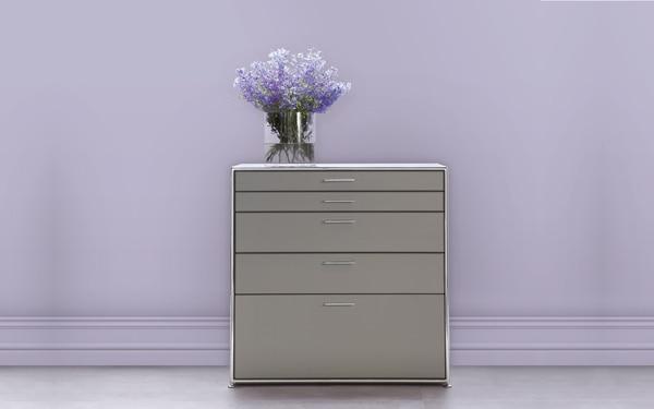 Os armários modulares da Dauphin Home permitem uma arrumação de acordo com as necessidades do cliente