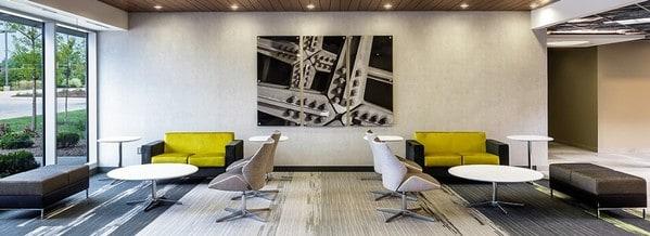 Zona lounge com sofás Dauphin