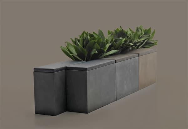 Divisórias com assento ou floreira - equipamentos de escritório