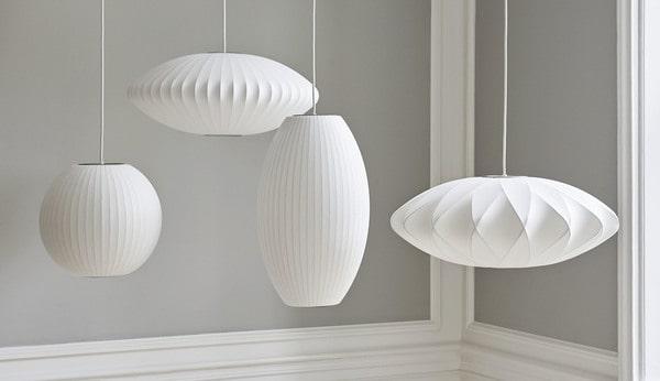 Os icónicos candeeiros de tecto Nelson Bubble Lamps