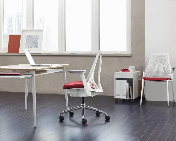 Cadeira Herman Miller Sayl, versão stackable