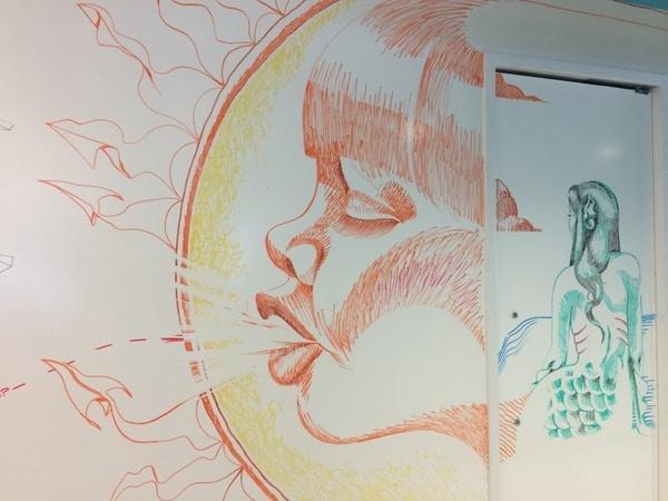 Ilustração feita com marcadores para quadro branco Idea Paint