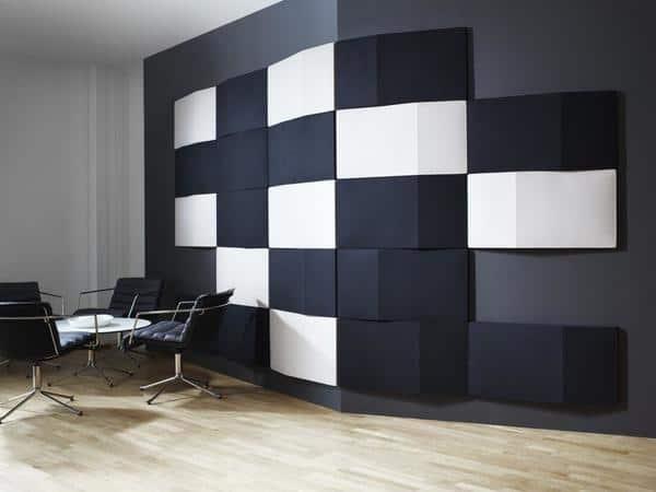 O isolamento acústico de paredes interiores da Abstracta é personalizável