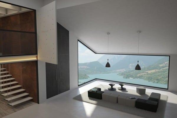 Sofás modulares luxy Puzzle utilizados numa sala de estar