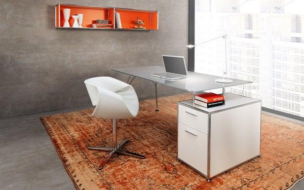 Homeoffice com mobiliario de escritório dauphin home
