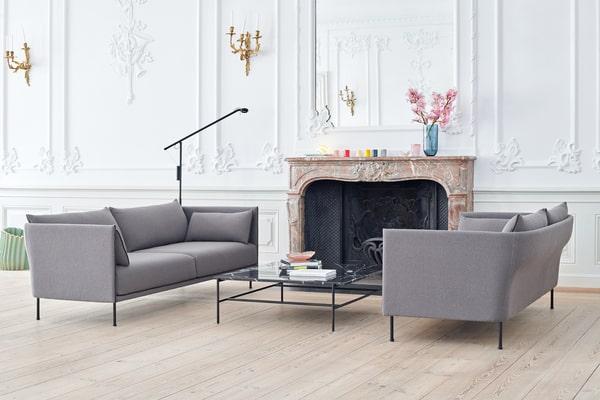 Sala de estar com mobiliário nórdico Hay
