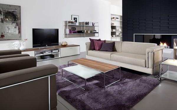 Sala de estar com móveis de luxo Dauphin Home