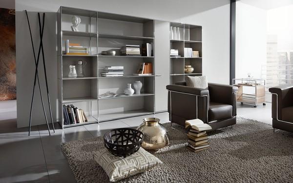 Sala de estar com mobiliário Dauphin Home