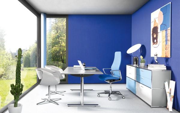 Escritório com móveis de luxo Dauphin Home e Zuco
