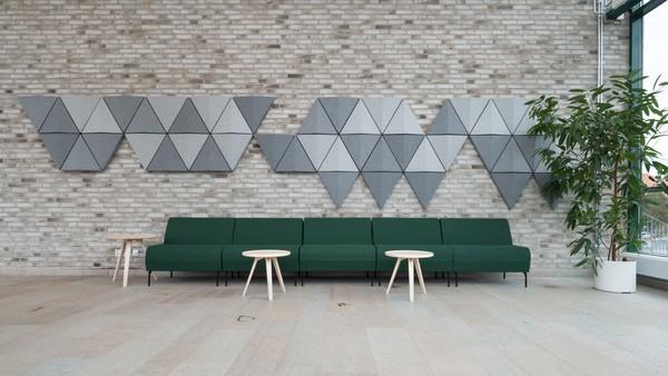 Painéis de isolamento acústico de parede Abstracta