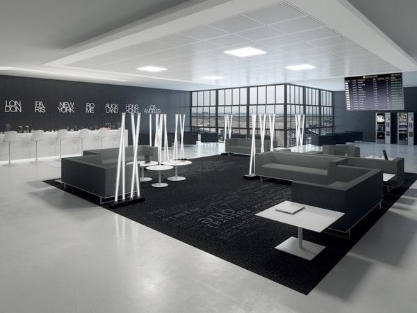 sofás e cadeiras lounge luxy numa sala de espera