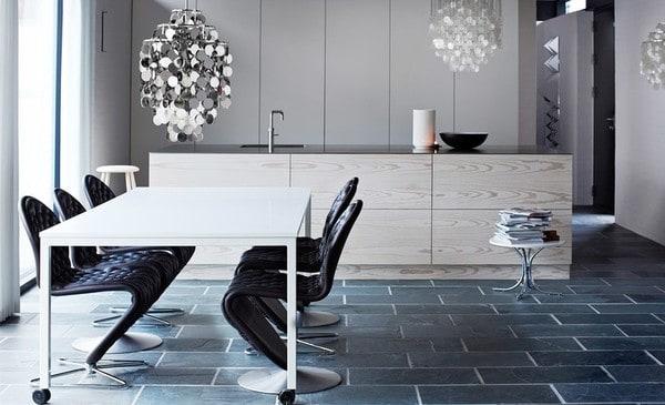 Cadeiras e iluminação Verpan