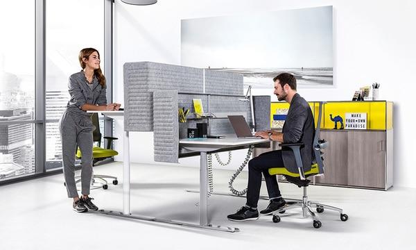 Colaboradores num escritório Bosse