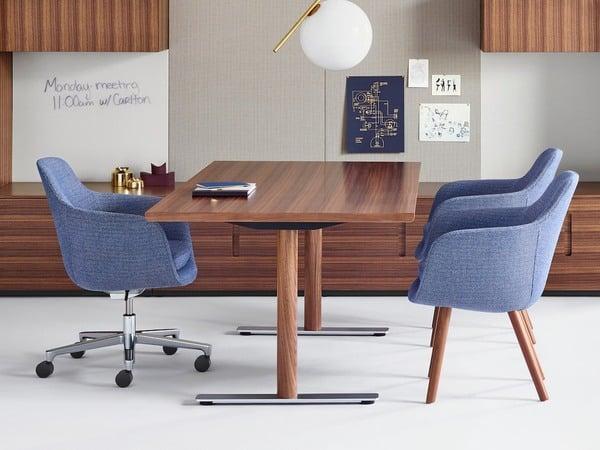 Os tecidos dos móveis para escritório Geiger são da máxima importância para a marca