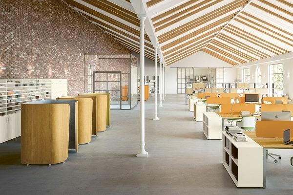 Mobiliario de escritório em open space Sinetica